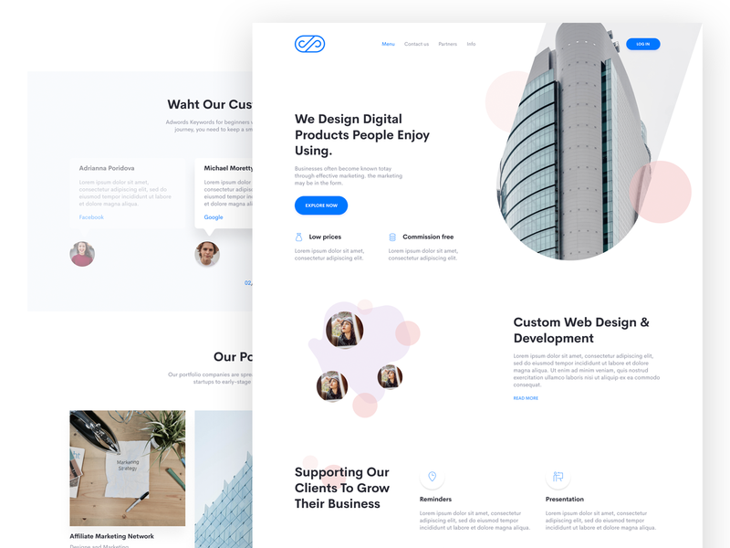 Agency Landing Page sketch figma clean web design agency web design landing page design landing page concept landing page