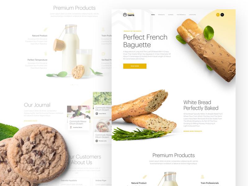 Bakery Landing Page design sketch ui web design clean figma landing page design landing page