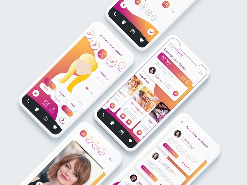 Newhair App Design By Ricardo Engels Dribbble Dribbble