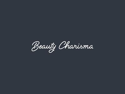 Beauty Charisma redo logo logotype wordmark script type identity