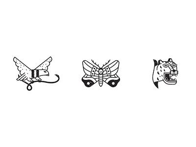 Tattoo icons tattoo vector moth eagle tiger
