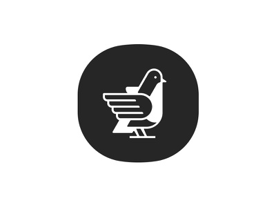 bird mark symbol mark logo wing hand bird