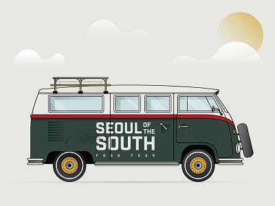 Tour Bus vector sun travel bus vw
