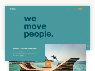Mering Final Direction ux design ui landing page digital uiux web design graphic design art direction branding