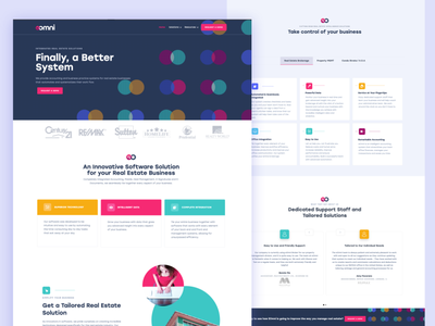 EOmni website brand designer web designer brand design rebrand marketing design web design webflow pattern marketing site saas website colour palette webdesign