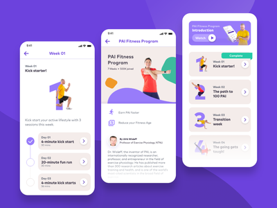 PAI Health Fitness Program workout app workout tracker fitness app photography graphic  design product ux uiux uidesign