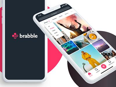 Brabble UI UX social app ui uiux product app branding logo