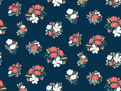 Strawberry Fields for the Claustrophobic pink design floral pattern vector flowers cute illustration surface pattern surface pattern design pattern design