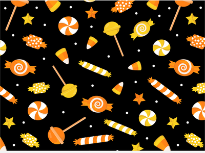 Halloween Bucket candy corn orange october trick or treat halloween candy vector cute illustration surface pattern surface pattern design pattern design