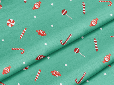 Christmas Candy Socking Stuffers wrapping paper holiday design candy cane peppermint patterns holiday pattern surface pattern surface pattern design pattern design
