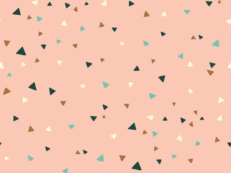 Pink Triangles Pattern | Daphney Collection processing dark green yellow teal pink collection pattern children procreate cute illustration surface pattern surface pattern design pattern design triangle