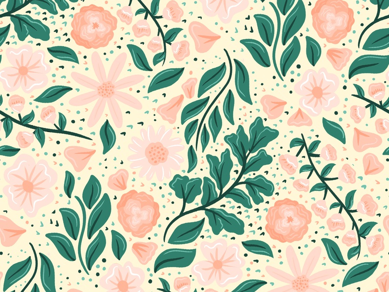 Daphey Pattern | Daphney Collection procreate floral pattern floral cute illustration vector flowers surface pattern surface pattern design pattern design