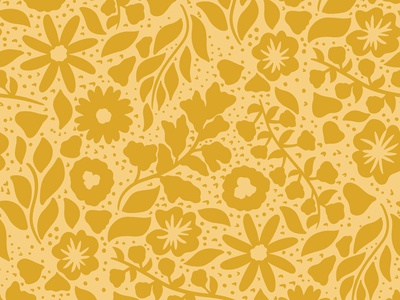 Goldenrod Floral Pattern | Daphney Collection