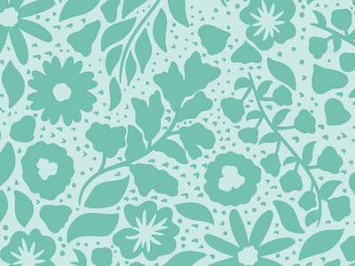 Teal Florals | Daphney Pattern Collection