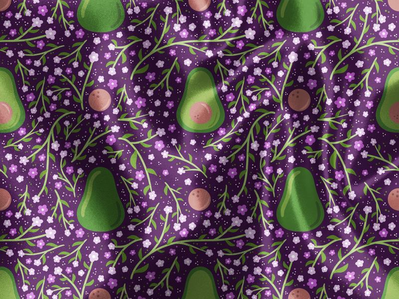 Avocado Picnic cute guacamole guac avocados avocado pattern vector vector flowers illustration surface pattern surface pattern design pattern design