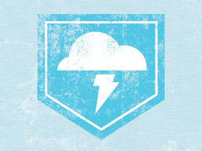 Cloud Strike Pocket cloud lightning blue shirt