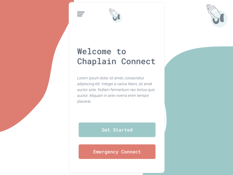 Chaplain Connect air force modern clean app simple product ux ui