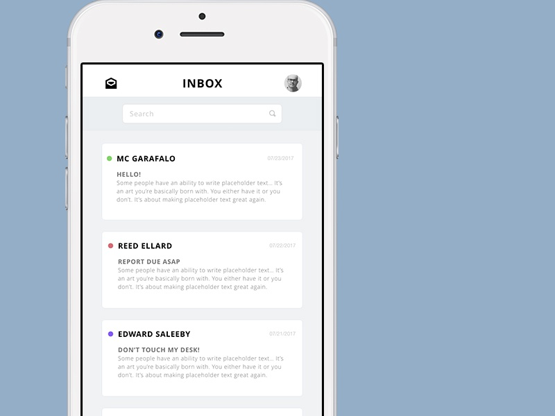 Simple Mail App modern ios mail ui app email