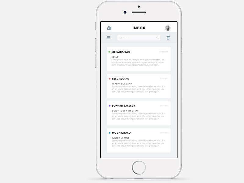 Simple Mail App ios modern clean email mail app
