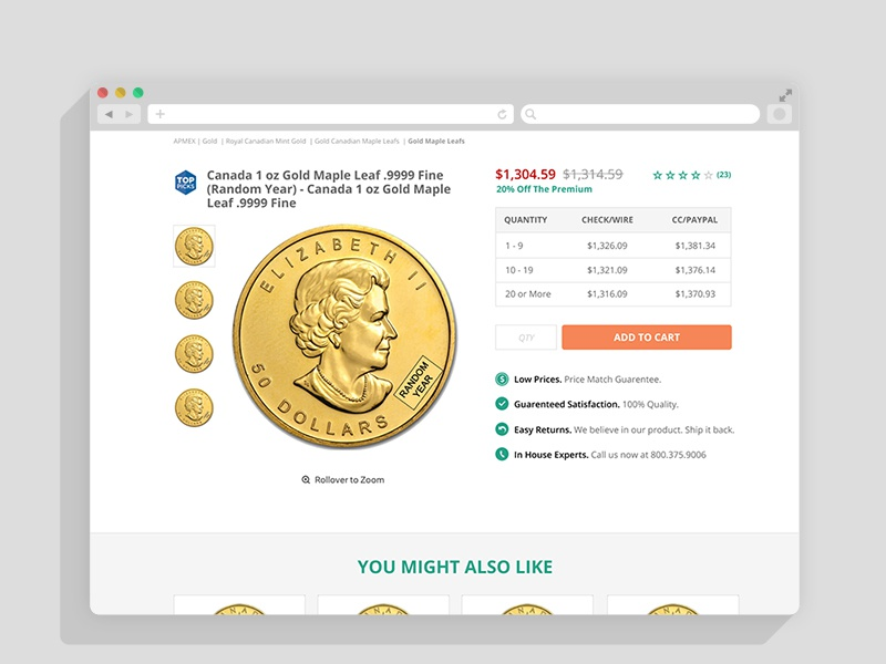 Product Page Layout clean simple ecommerce ux ui product