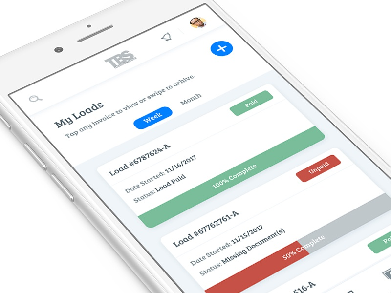 Invoice Overview v2 card invoice product ux ui app