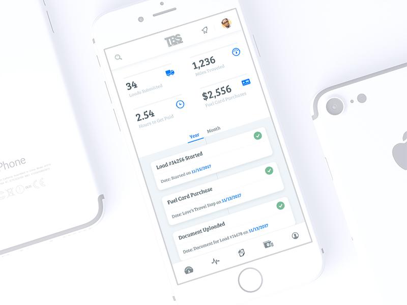 Mobile Activity factoring ui app dashboard activity