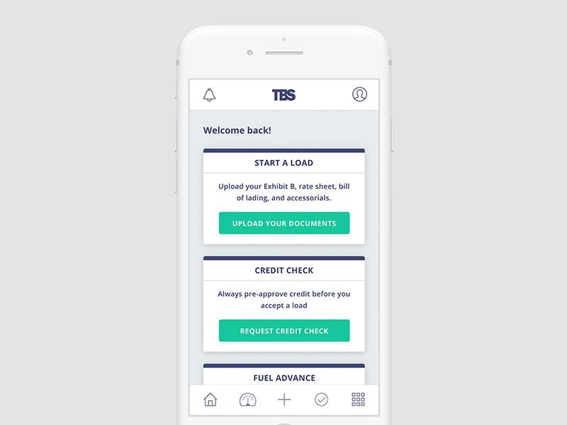 Factoring Mobile App card mobile fintech modern clean product ui app