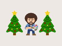 Bob Ross Happy Holidays Trees