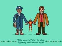 Myron, Turbo Man and Howard