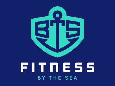Fitness By The Sea Logo icon artwork jersey shore new jersey anchor logos typography design graphic design branding logo design icon illustration vector logo
