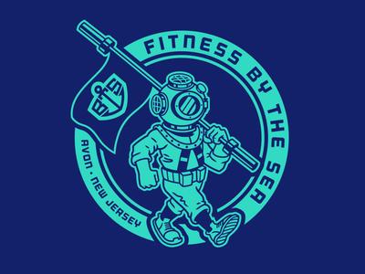 BTS Diver badge design mascot flag apparel crest ocean nautical logos badge typography design graphic design branding logo design icon logo illustration vector