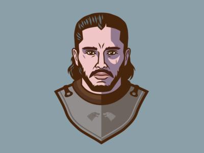 Jon Snow hbo portrait drawing stark jon snow got game of thrones movie fan art cartoon logo design design branding graphic design icon logo illustration vector