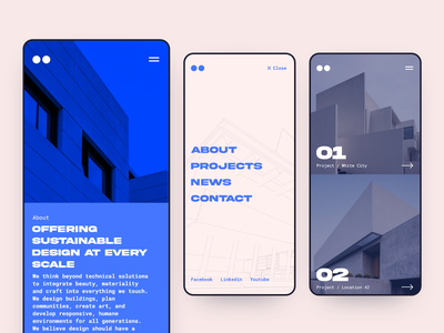 Architecture Mobile Website mobile ui design minimalist mobile architecture website website design architecture typography user interface ux ui
