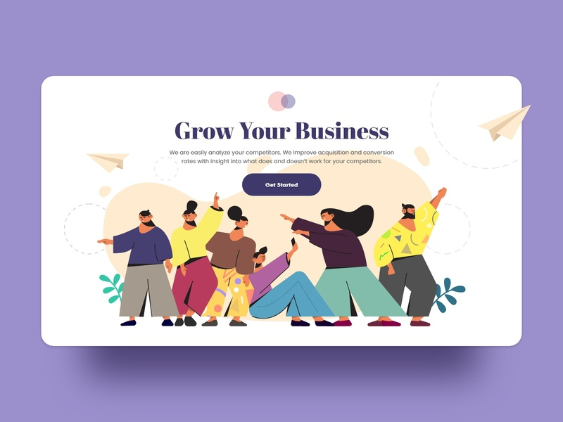 People Illustration for Websites illustration agency people illustration business website user interface people startup character ux character design flat  design ui illustration vector