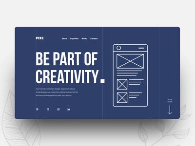 Pixe website design animation motion design interaction design website agency website user interface ux ui