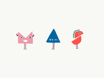 Monster Meals characters colourful branding playful fun characters illustration