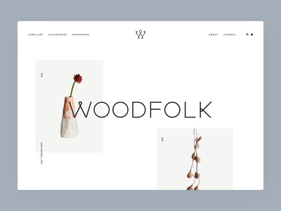 Woodfolk website concept homewares fashion minimal clean ux ui desktop website