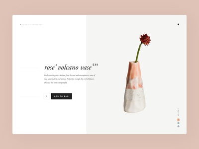 Woodfolk website concept - product page homewares fashion minimal clean ux ui desktop website