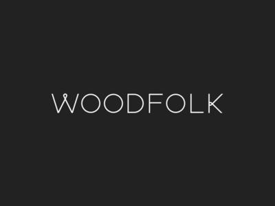 Woodfolk custom logotype logotype custom typography minimal clean logo