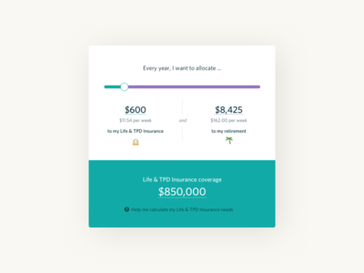 Flare insurance allocation & calculator application minimal clean ui ux product