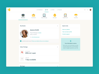 Flare employee dashboard hr application minimal clean ui ux product
