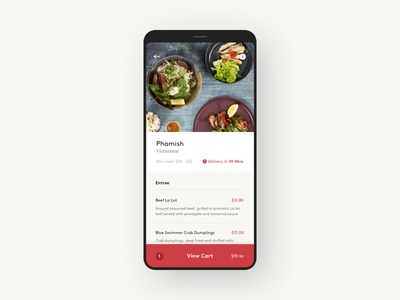 Suppertime app food minimal clean ui mobile app