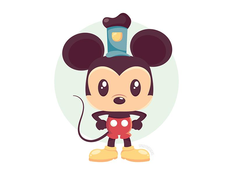 Quickie Mickey quickie mickey disneyworld vector illustration character cartoon disney mickey mouse mickey