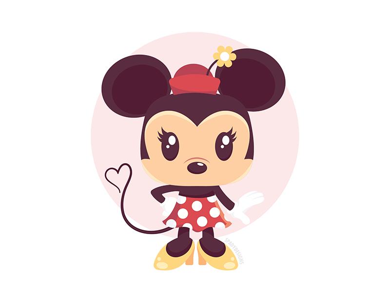 Quickie Minnie disneyworld vector animal cartoon character flat vector love minnie mouse minnie disney