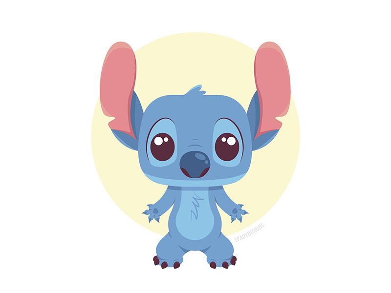 Stitch! boy pet dog hawaii disney blue animation character design cartoon lilo and stitch stitch alien