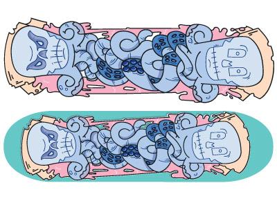 Octopus Skateboard Deck