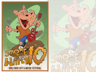 Smoke on the Water BBQ Fest poster art 3