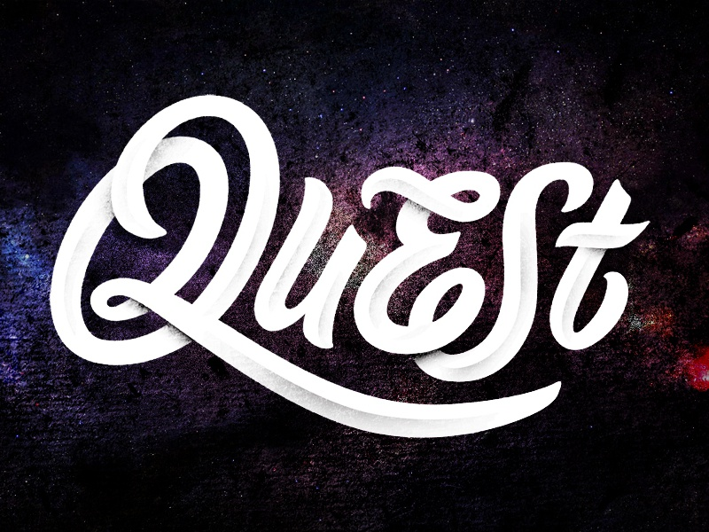 QuESt lettering lettering quest bevel logotype script rapper musician fear not failure