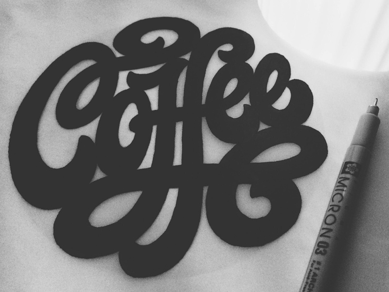 Coffee Coasters lettering script coffee coasters hand lettering