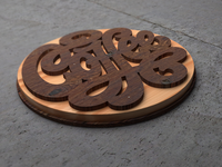 Coffee Coaster Mockup